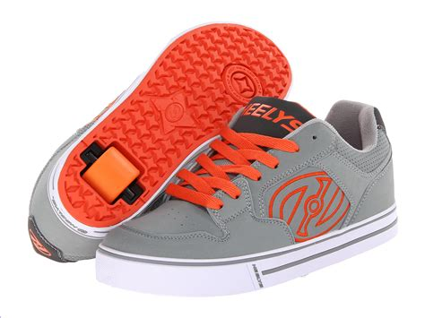 rolling shoes for heely s motion roller shoe grey orange