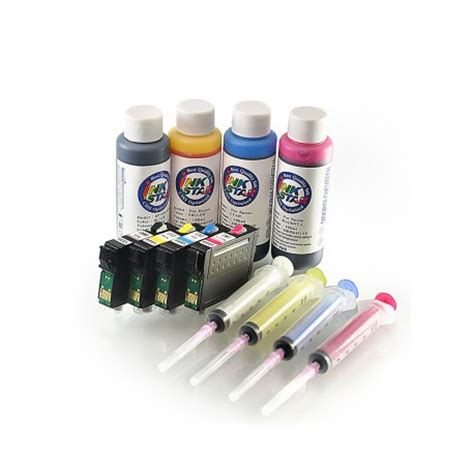 Paket Tinta Isi Ulang Refill Hp 100ml One Ink 4 Warna mir aus belanja refillable tinta cartridge epson tx200 di