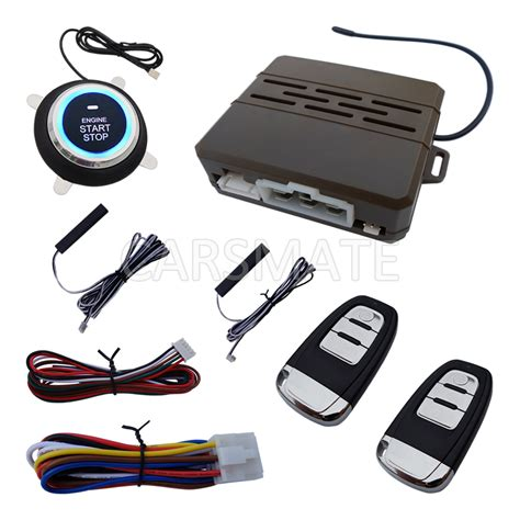 universal pke car alarm system with remote start car push