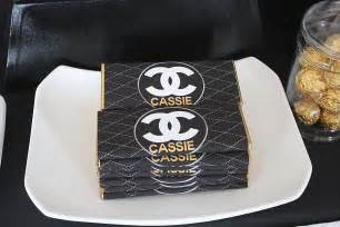 coco chanel birthday party ideas photo 16 of 20 catch