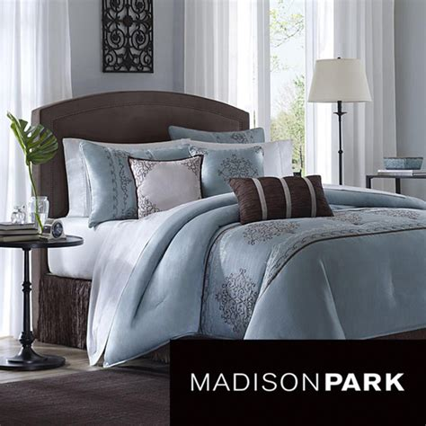 overstock bedding sets madison park brussel 7 piece comforter set modern