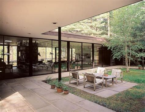 eliot noyes new canaan house outdoor living