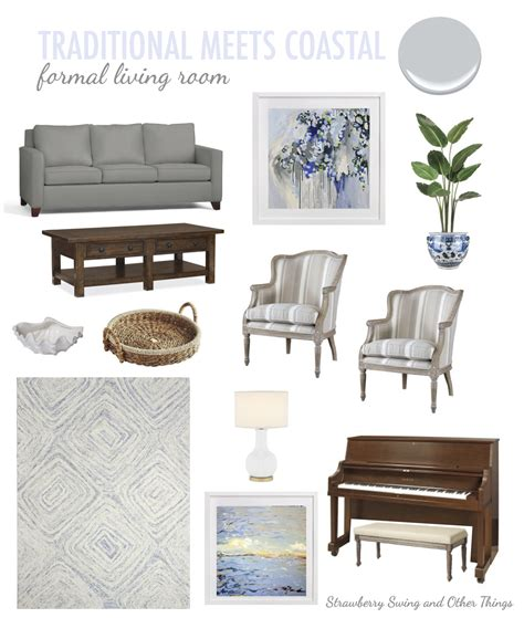 things for living room strawberry swing and other things traditional meets coastal living room