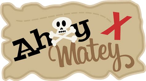 ahoy matey pirate printable iron on label by hamandpea on etsy pause dream enjoy mkc dt day ahoy matey tag