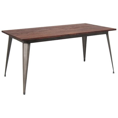 Wood Table With Metal Legs by Industrial Series Table With Metal Legs And Wood Top
