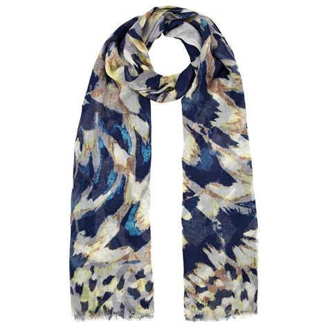 lewis wing feather scarf in multicolor navy lyst