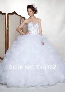 white puffy quinceanera dresses lady searching