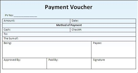 receipt voucher template word payment voucher template