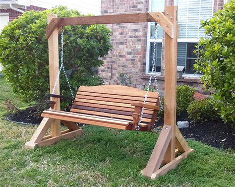 porch swing frames hand made cedar porch swings adirondack chairs and