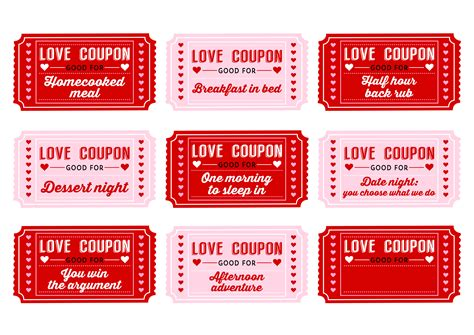 Free Printable Love Coupons For Couples | free printable love coupons for couples on valentine s day