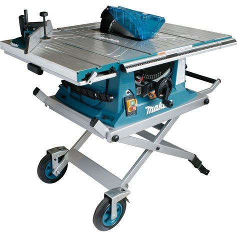 makita table saw with stand makita mlt100x 260mm table saw with trolley stand
