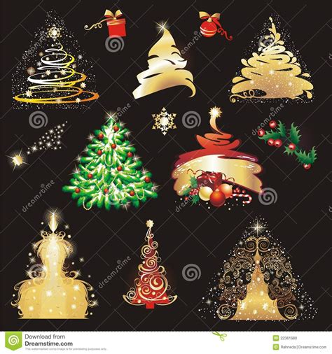 christmas tree collection stock photo image 22361980