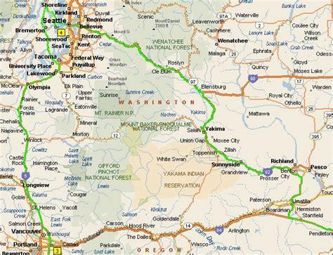 map of oregon washington border trolans net trip journal