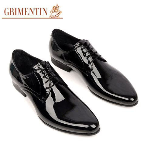 grimentin brand genuine patent leather dress shoes