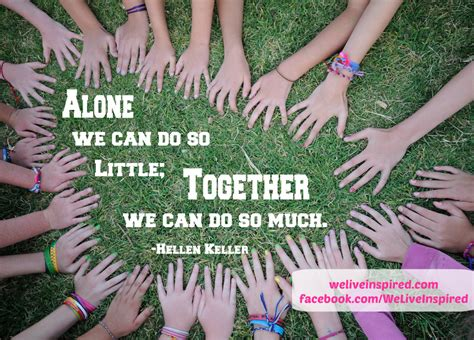 living together good for some not so much for others importance of teamwork quotes quotesgram