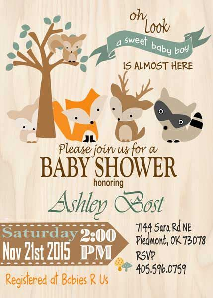 Simple Baby Shower Invites by Woodland Baby Shower Invites Woodland Baby Shower Invites