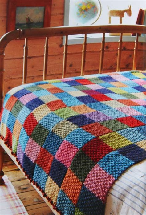 Patchwork Knitting Patterns - 25 best ideas about patchwork blanket on