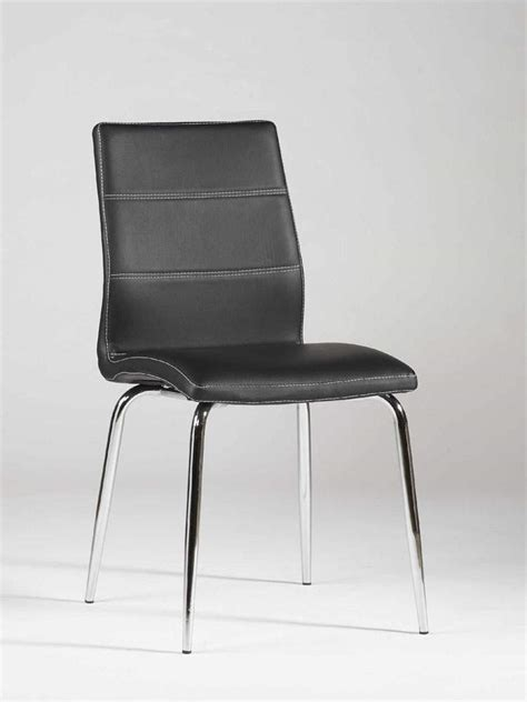 ultra contemporary shaped dining chair in black leather