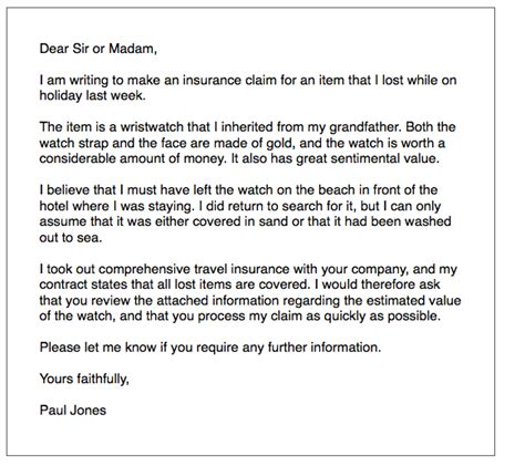 ielts general writing insurance letter ielts simoncom