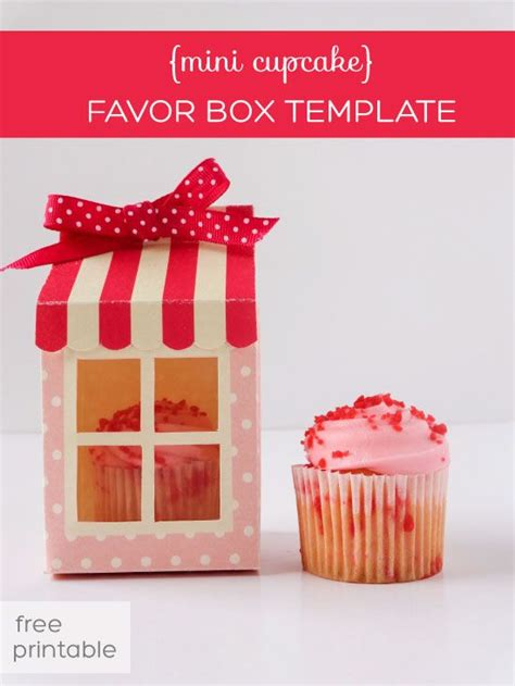 cupcake box template 25 unique favor boxes ideas on gift wrap box