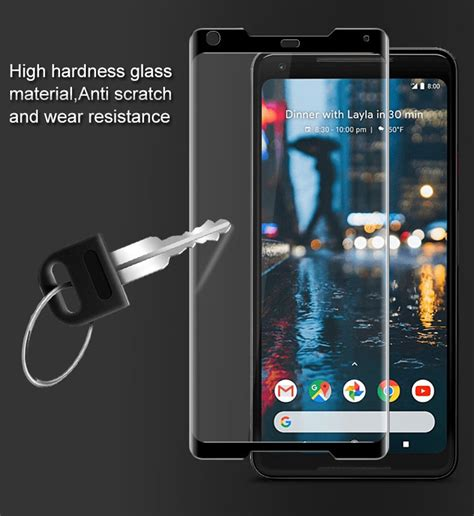 Imak With Screen Guard Pixel Xl imak 3d curved coverage tempered glass screen protector for pixel 2 xl black tvc