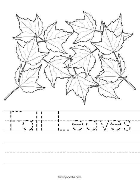 september coloring pages preschool fall leaves worksheet twisty noodle