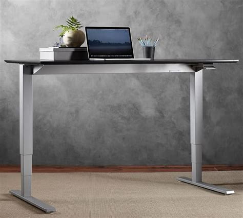 humanscale sit stand desk humanscale 174 sit stand desk silver base pottery barn