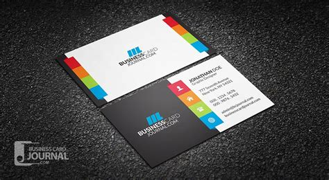 Color Logic Business Card Template Psd an amazing multi color design for those who prefer a touch