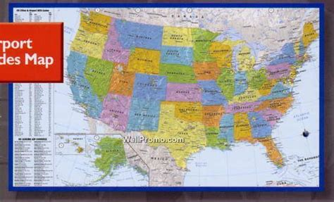printable us airports map printable iata codes map imprinted branded printing