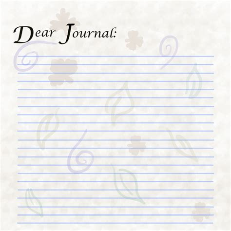 journal page template blank diary pages to print calendar template 2016