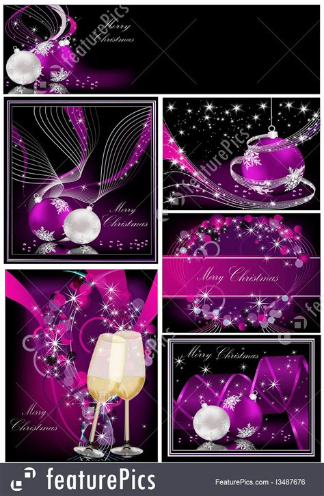 holidays merry christmas purple background collections stock illustration   featurepics