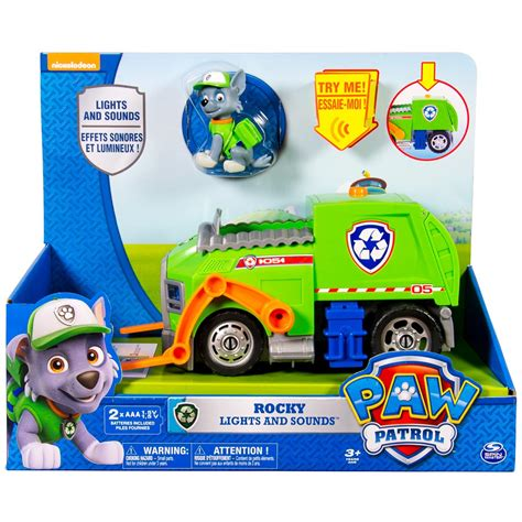 paw patrol light up scooter spin master paw patrol rocky s lights and sounds