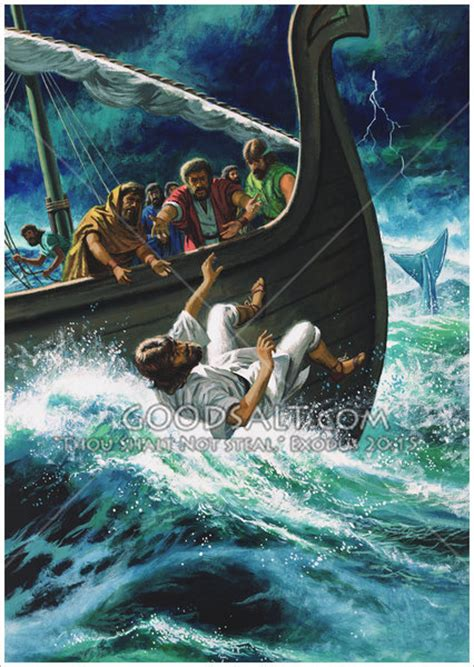 jonah thrown off the boat jonah thrown overboard