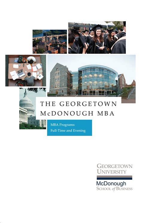 Georgetown Mba Program by Mba Viewbook By Georgetown Mcdonough School Of