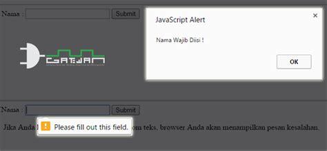 membuat form validasi dengan html membuat validasi form html5 dengan javascript gatewan
