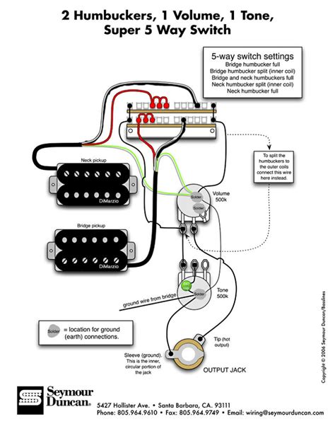 guitar wiring diagram 2 humbucker 1 volume 1 tone wiring diagram dimarzio wiring diagram humbucker
