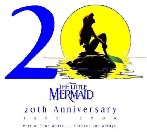 the little mermaid 20th anniversary the little mermaid