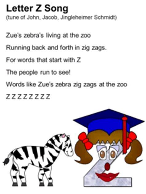 Letter Zebra Lyrics Letter Z Song