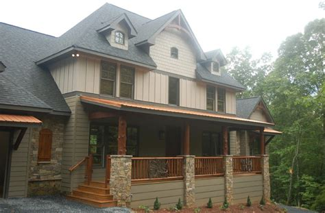 rustic modern home exterior design of house of mirth by carters lake lodge traditional exterior atlanta by