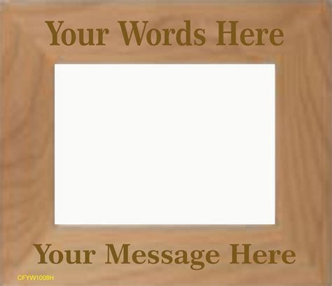 html pattern custom message engraved custom message picture frame