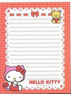 printable hello kitty notebook paper details about hello kitty geek chic letter writing paper