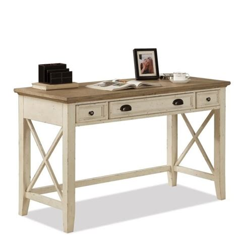 Riverside Desks by Riverside Furniture Coventry Two Tone Writing Desk In Dover White 32520