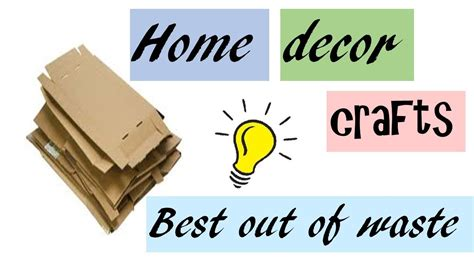 best out of waste home decor best out of waste home decor diy home decor crafts from