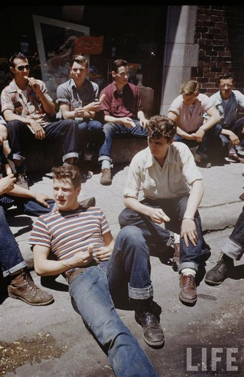 1950s teen fashion for teenage boys interesting color photographs capture daily life of