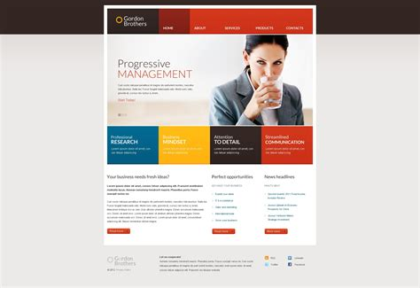 responsive templates for business website business responsive website template 37359