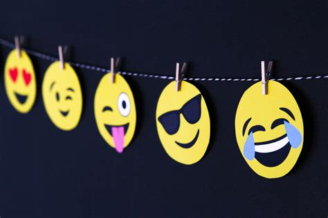 printable emoji banner emoji party ideas for an emoji baby shower from paging