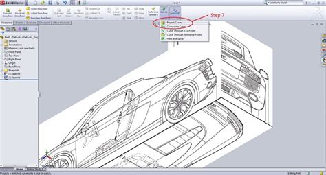 sketch pattern along curve solidworks tutorial making a 3d projected curve grabcad