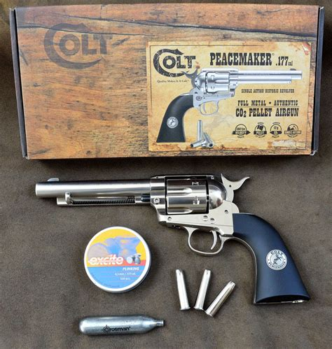 gun review colt peacemaker single action revolver the cowboy action shooting with the colt peacemaker pellet pistol