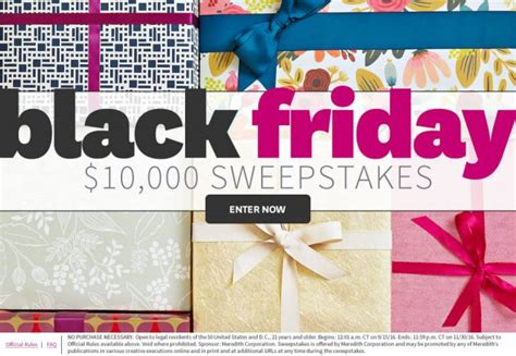 Black Friday Sweepstakes - can you get through these bhg sweepstakes without entering a single one