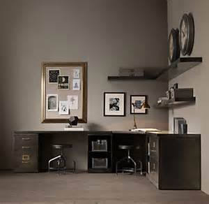 Modular Desk Systems Home Office 1940s Industrial Modular Office Corner Desk System